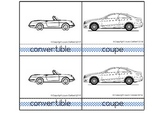 Montessori Classified Cards: Car Body Types