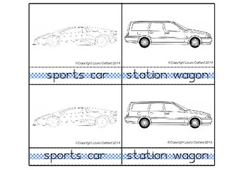 Montessori Classified Cards: Car Body Types