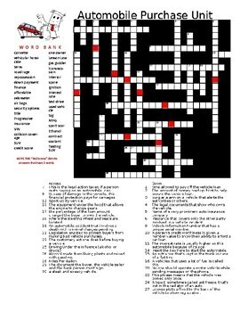 Car Buying Crossword Connection