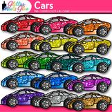 Race Car Clip Art   Rainbow Glitter Transportation Graphics for Classroom Decor