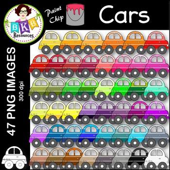 Car Clip Art ● Paint Chip Cars ● Clip Art
