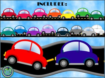 Car Clip Art with Road