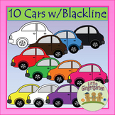 Car Transportation Clipart ~ 10 Images PLUS Blackline Master