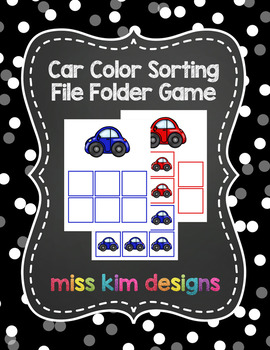Car Color Sorting Folder Game for students with Autism