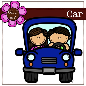Car Digital Clipart (color and black&white)