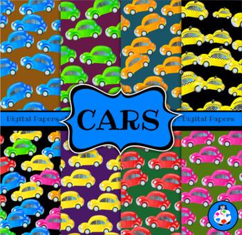 Car Digital Paper Backgrounds