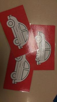 Car Dismissal Tag