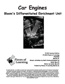 Car Engines - Differentiated Blooms Enrichment Unit