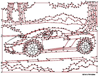 Sports Car Extreme Dot-to-Dot / Connect the Dots PDF