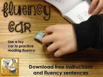 FREE Fluency Car Practice reading fluency with a toy car COMMON CORE