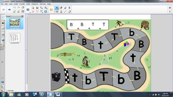 Car Game Letters T and B for Smartboard or Interactive Whiteboard