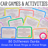 Car Games and Activities - Field Trip Activity