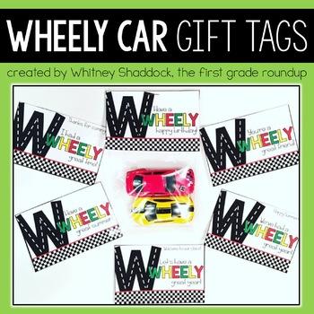 Car Gift Tags