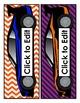 Car Labels: Editable