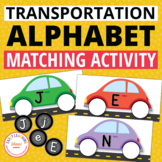 Transportation Alphabet Activity | Car Letter Matching for Preschool and Pre-K