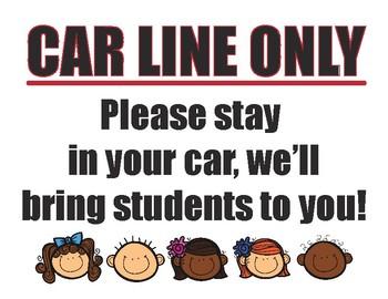 Car Line Sign