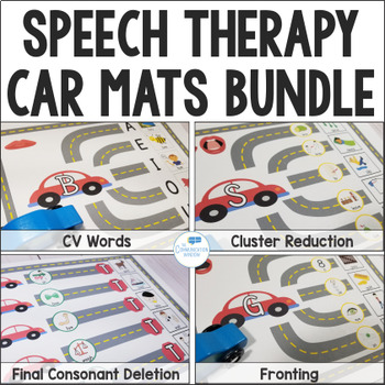 Speech Car Road Mats Bundle for Apraxia, Articulation and Phonology