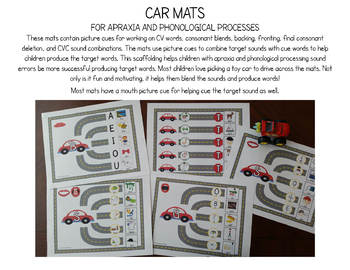 Car Mats for Apraxia, Phonology and Apraxia Free Preview