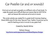 Car Puzzles Ar and Or Sounds Reading Street Grade 2 Tara a