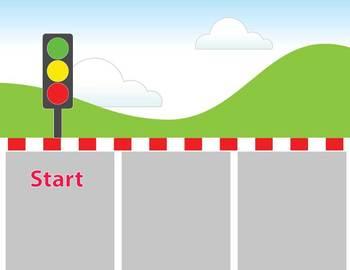 Car Race!  Sight Word Board Game