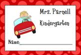 Car Rider Tag- Editable