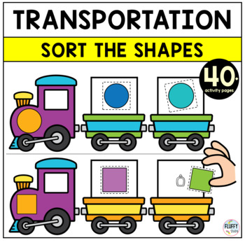 Car Shapes Worksheets for Preschool and Pre-K