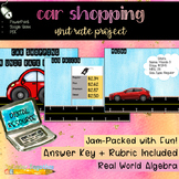 Digital Car Shopping: A Unit Rate Project