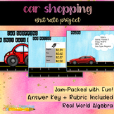 Car Shopping: A Unit Rate Project