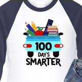 Car Svg 100 days smarter sign