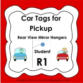 Car Tags for Pick Up - Rear view mirror hangers