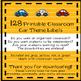 Classroom Labels {Car Theme}