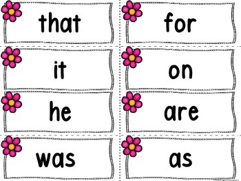 Car Word Wall Letters and 200 Fry Words (Love Bug)