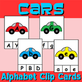 Car Themed Alphabet Clip Cards