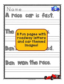 Car Themed Copywork Makes Practicing Handwriting Fun!