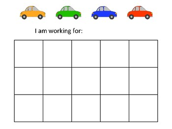 Car Themed Token Economy (Includes 5 Point Charts)