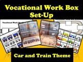 Car/ Train Theme Vocational Work Box/Basket Set-up Labels and Schedules