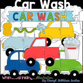 Car Wash Clipart Collection