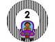 Car Word Wall Letters & Table Numbers 1-7
