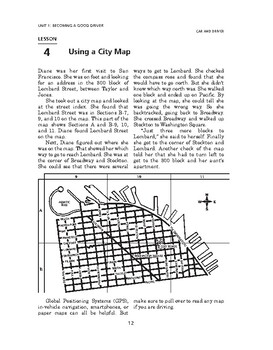 Car and Driver: Becoming a Good Driver-Using a City Map