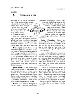 Car and Driver: Buying a Car-Financing a Car