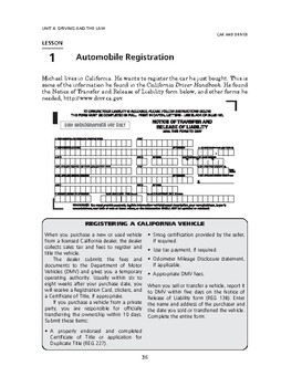Car and Driver: Driving and the Law-Automobile Registration