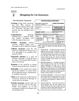 Car and Driver: Driving and the Law-Shopping for Car Insurance