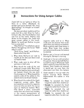 Car and Driver: Maintenance and Repair-Instructions for Using Jumper Cables