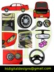 Car and Parts Colored