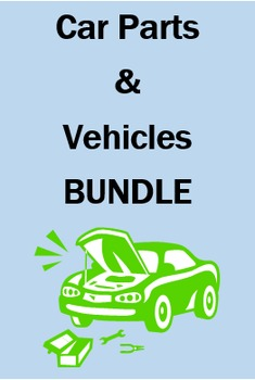 Car parts and Vehicles in Spanish Bundle