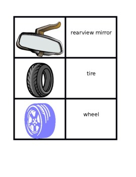 Car parts in English Concentration games