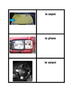 Car parts in French Concentration games