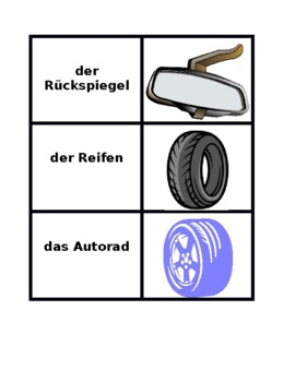 Car parts in German Concentration games