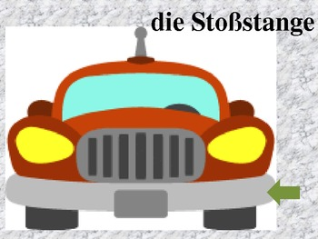 Auto Car parts in German power point