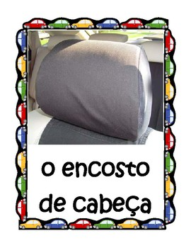 Car parts in Portuguese Posters